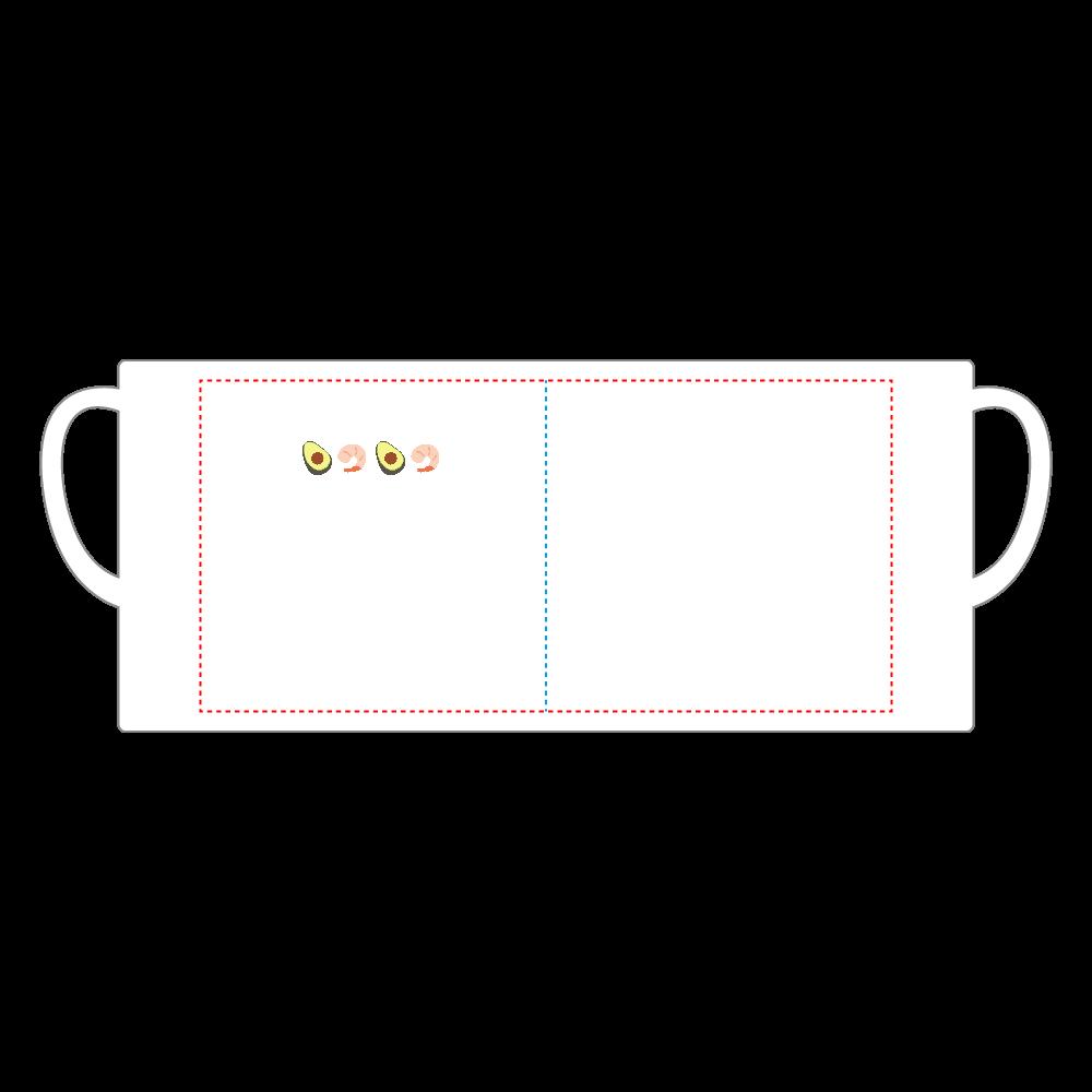 えびあぼ マグカップ スーパーホワイトマグカップV1