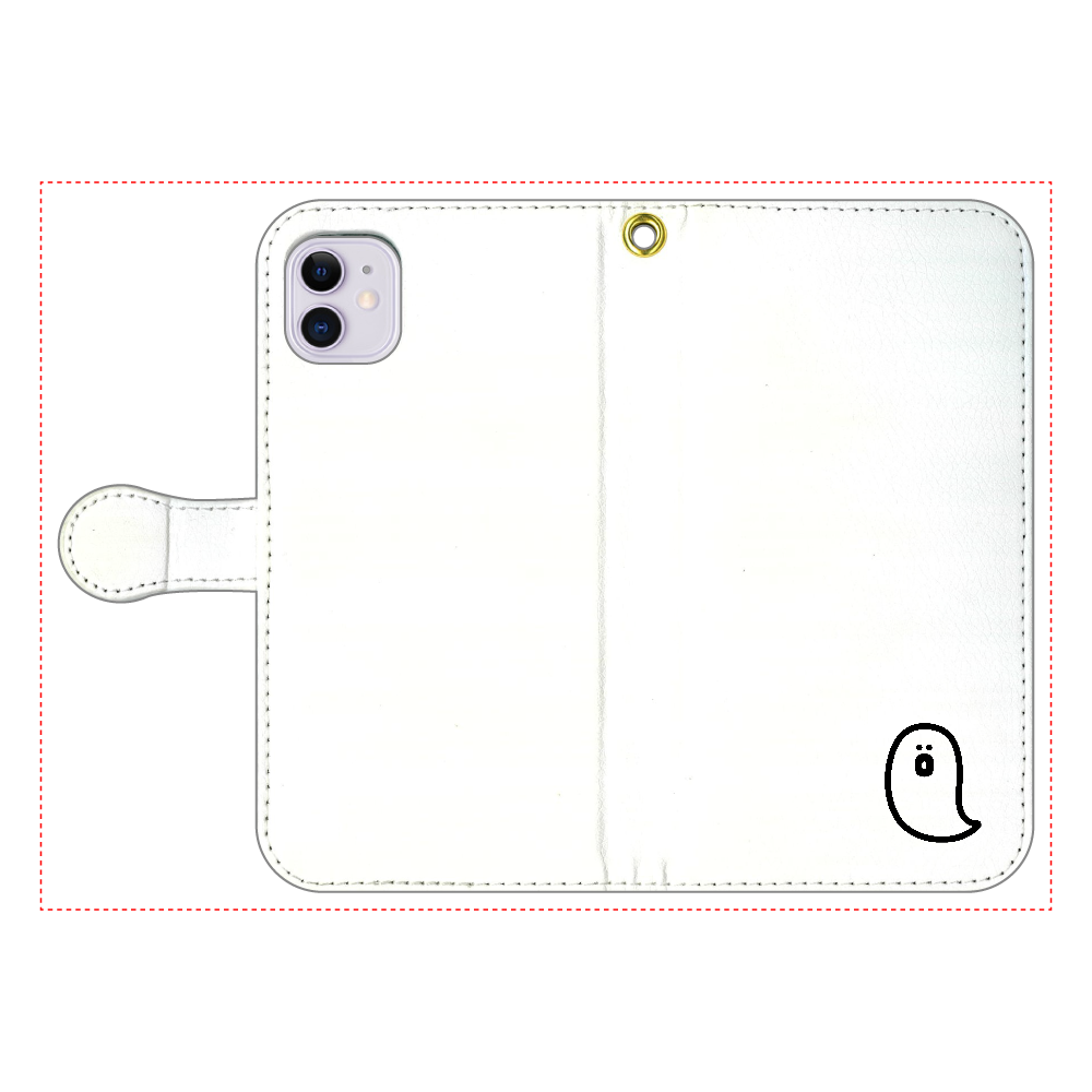 söpö minä オバケ 手帳型スマホケース iPhone11 手帳型スマホケース