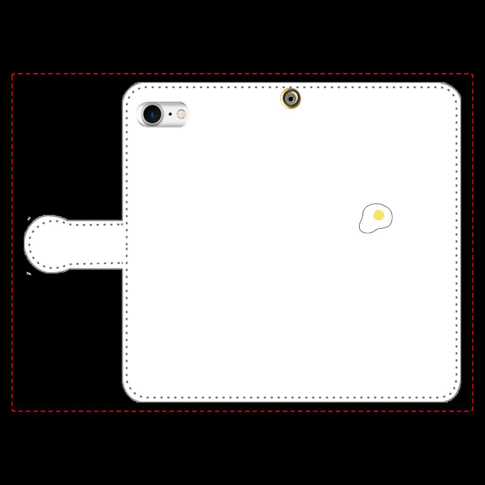 めだまやき 手帳型スマホケース iPhone8 手帳型スマホケース
