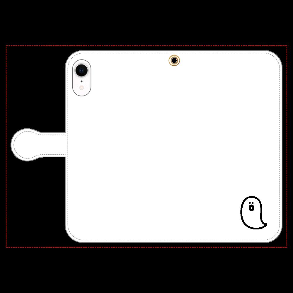 söpö minä オバケ 手帳型スマホケース iPhone XR 手帳型スマホケース