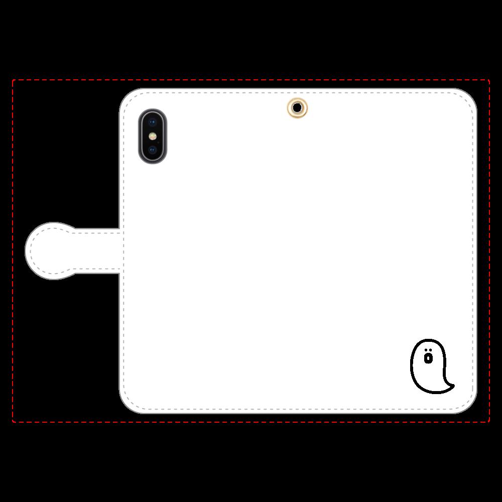 söpö minä オバケ 手帳型スマホケース iPhoneX/Xs 手帳型スマホケース
