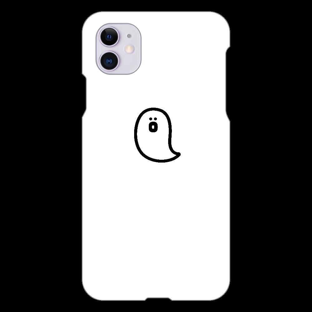 söpö minä オバケ スマホケース iPhone 11(白)