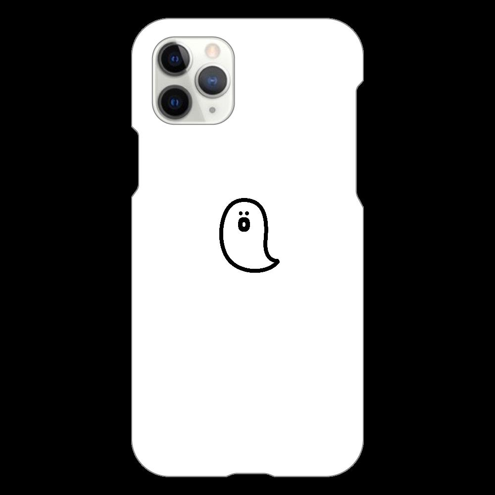 söpö minä オバケ スマホケース iPhone11 Pro(白)