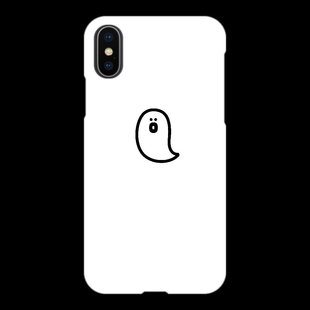 söpö minä オバケ スマホケース iPhoneX/Xs(白)