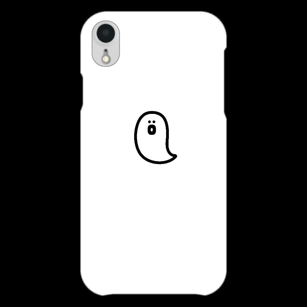söpö minä オバケ スマホケース iPhoneXR(白)