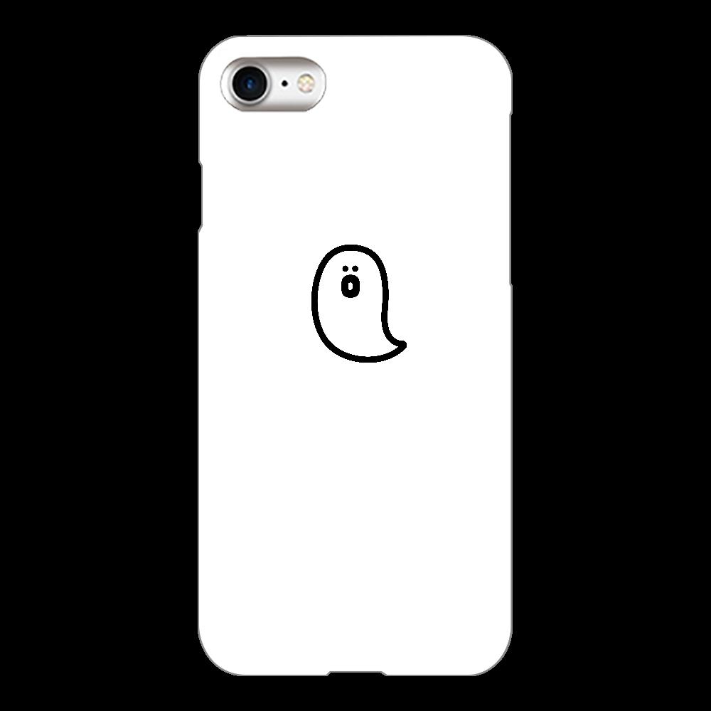 söpö minä オバケ スマホケース iPhone8(白)