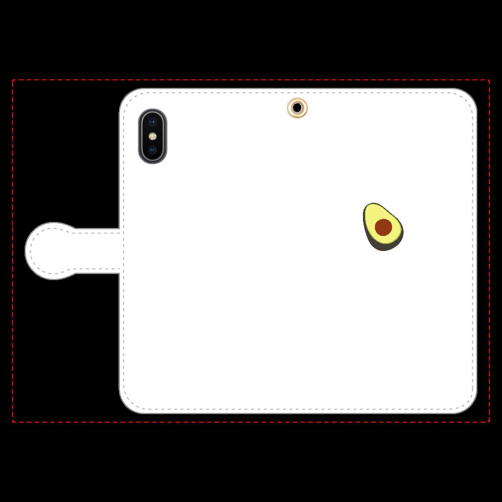 あぼかど 手帳型スマホケース iPhoneX/Xs 手帳型スマホケース