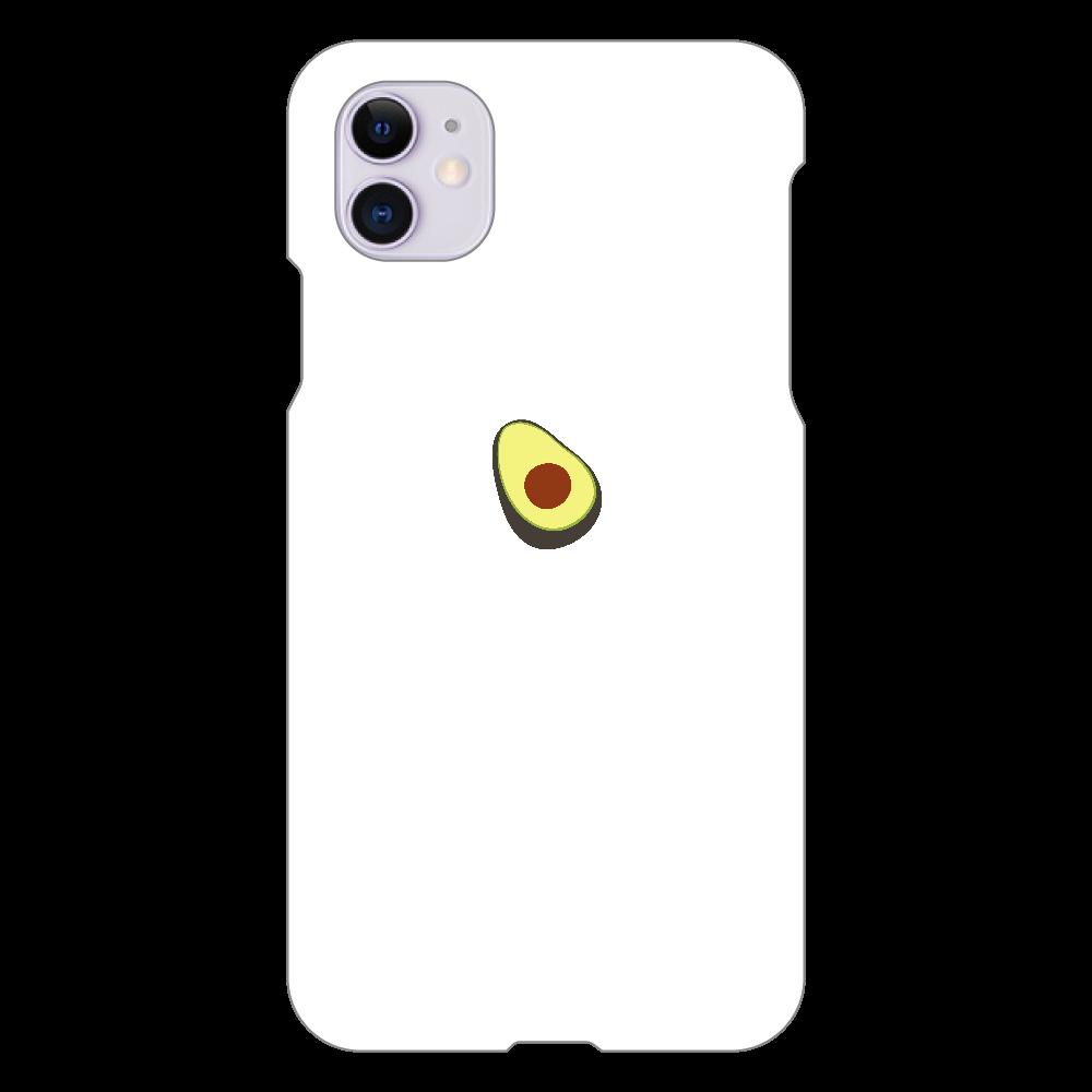 あぼかど スマホケース iPhone 11(白)