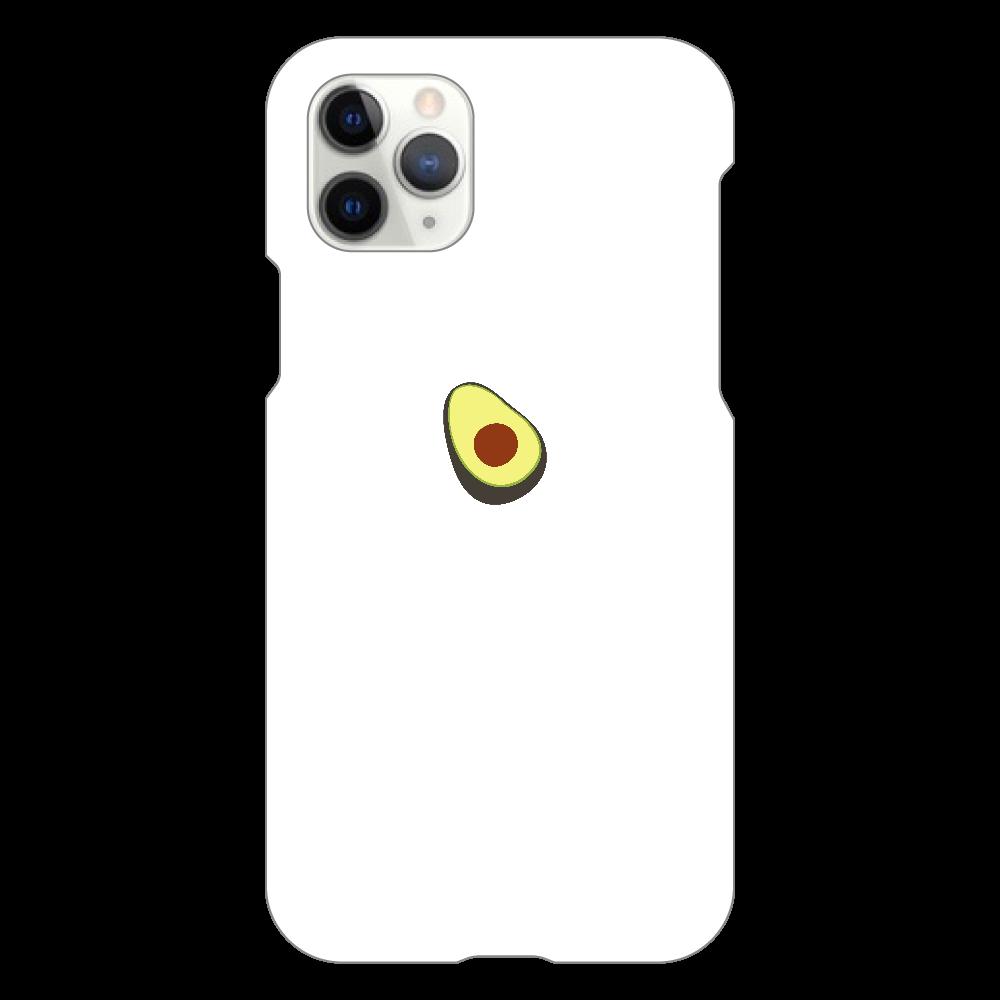 あぼかど スマホケース iPhone11 Pro(白)