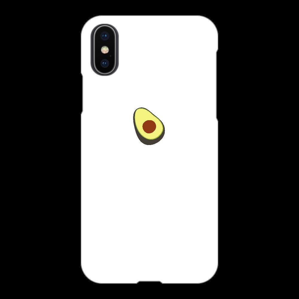 あぼかど スマホケース iPhoneX/Xs(白)