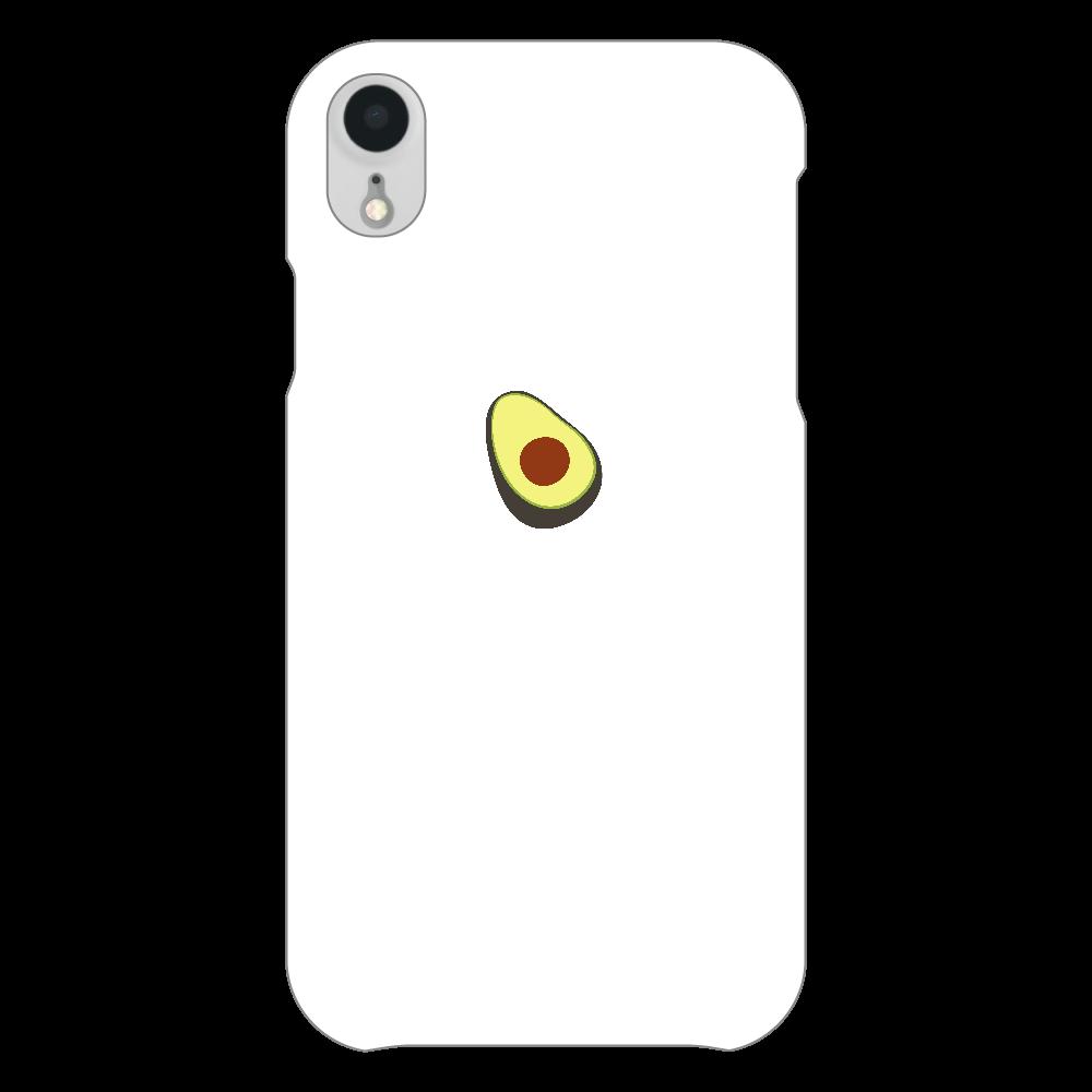 あぼかど スマホケース iPhoneXR(白)