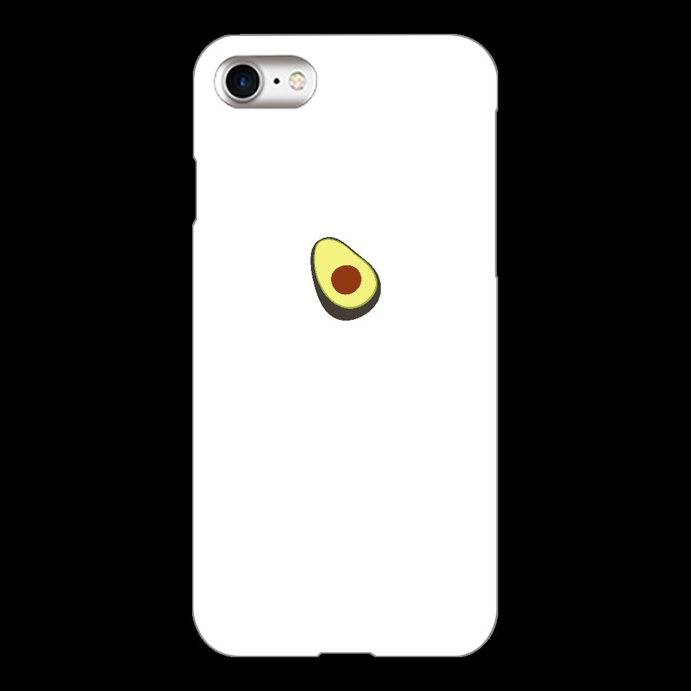あぼかど スマホケース iPhone8(白)