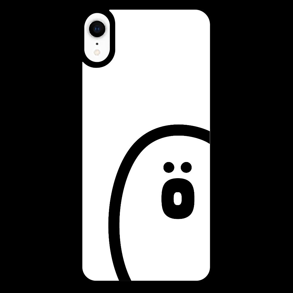 söpö minä オバケ ラバースマホケース iPhoneXR_プリントパネルラバーケース