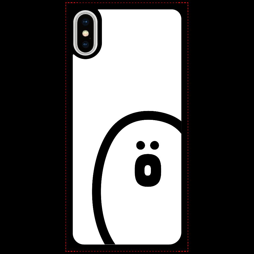 söpö minä オバケ ラバースマホケース iPhoneX/Xs_プリントパネルラバーケース