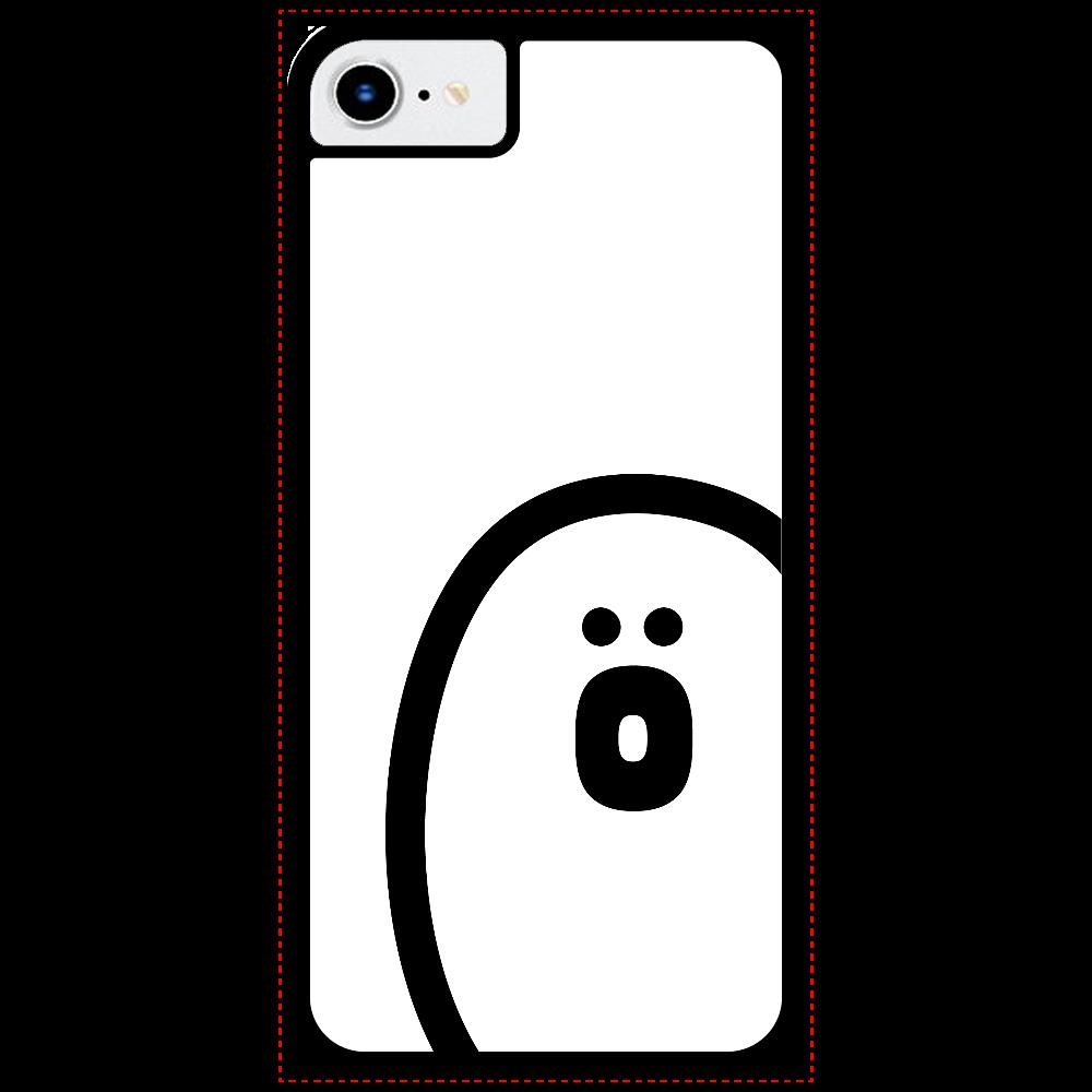 söpö minä オバケ ラバースマホケース iPhone8_プリントパネルラバーケース