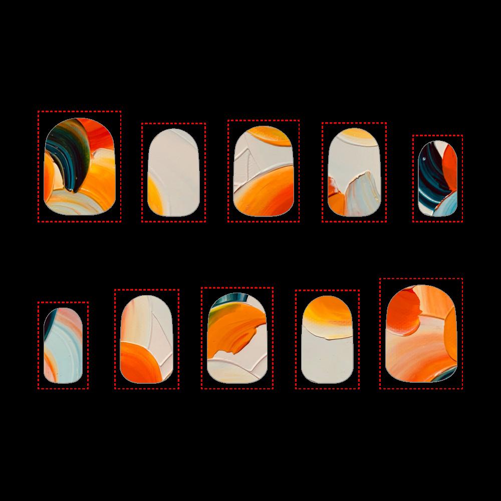 バレンシアの橙 Sサイズ ネイルチップS