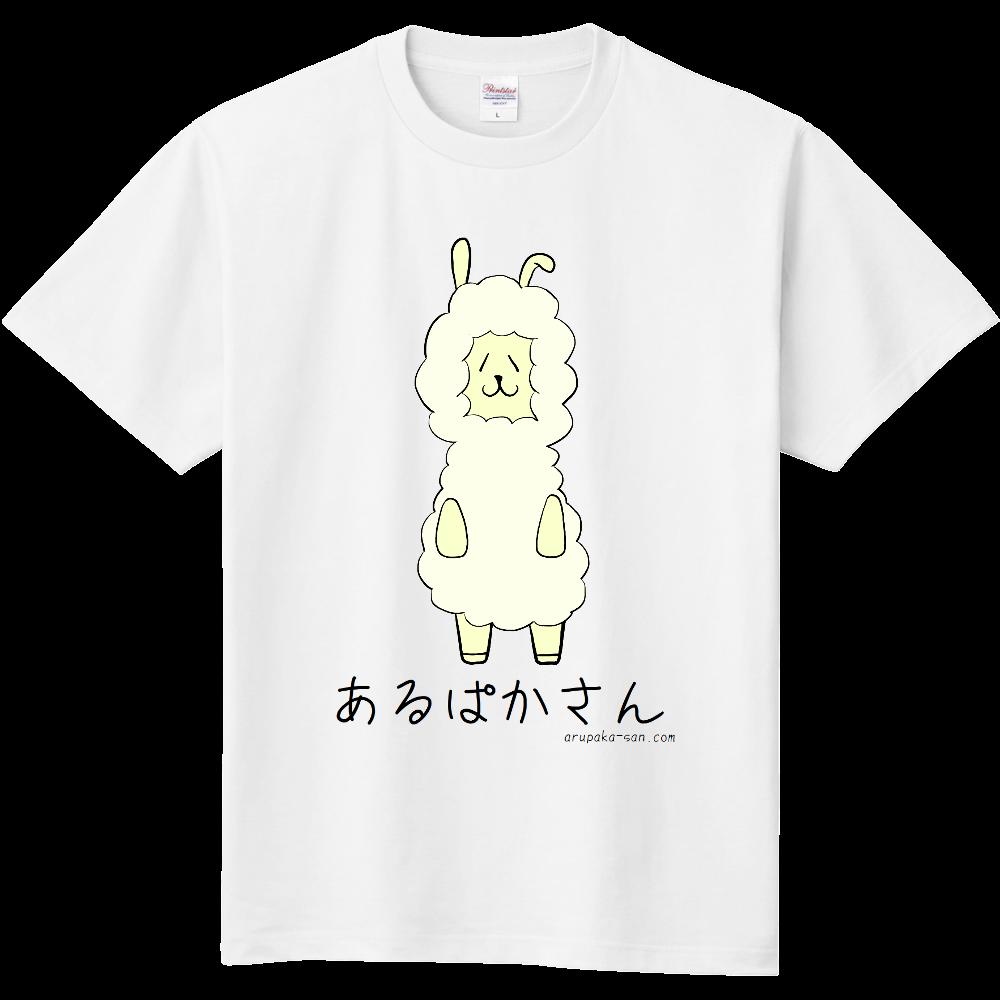 あるぱかさんTシャツ文字黒B 定番Tシャツ