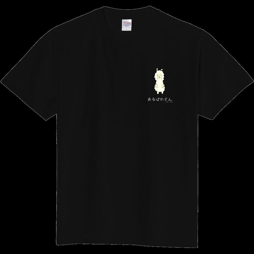 あるぱかさんTシャツ文字白A 定番Tシャツ