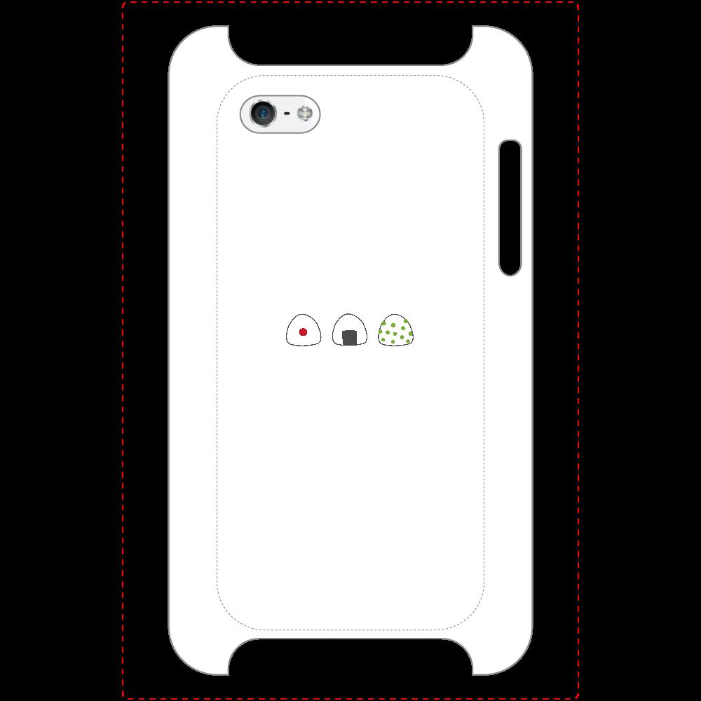 おにぎり3つ マットスマホケース iPhone5/5s/SE