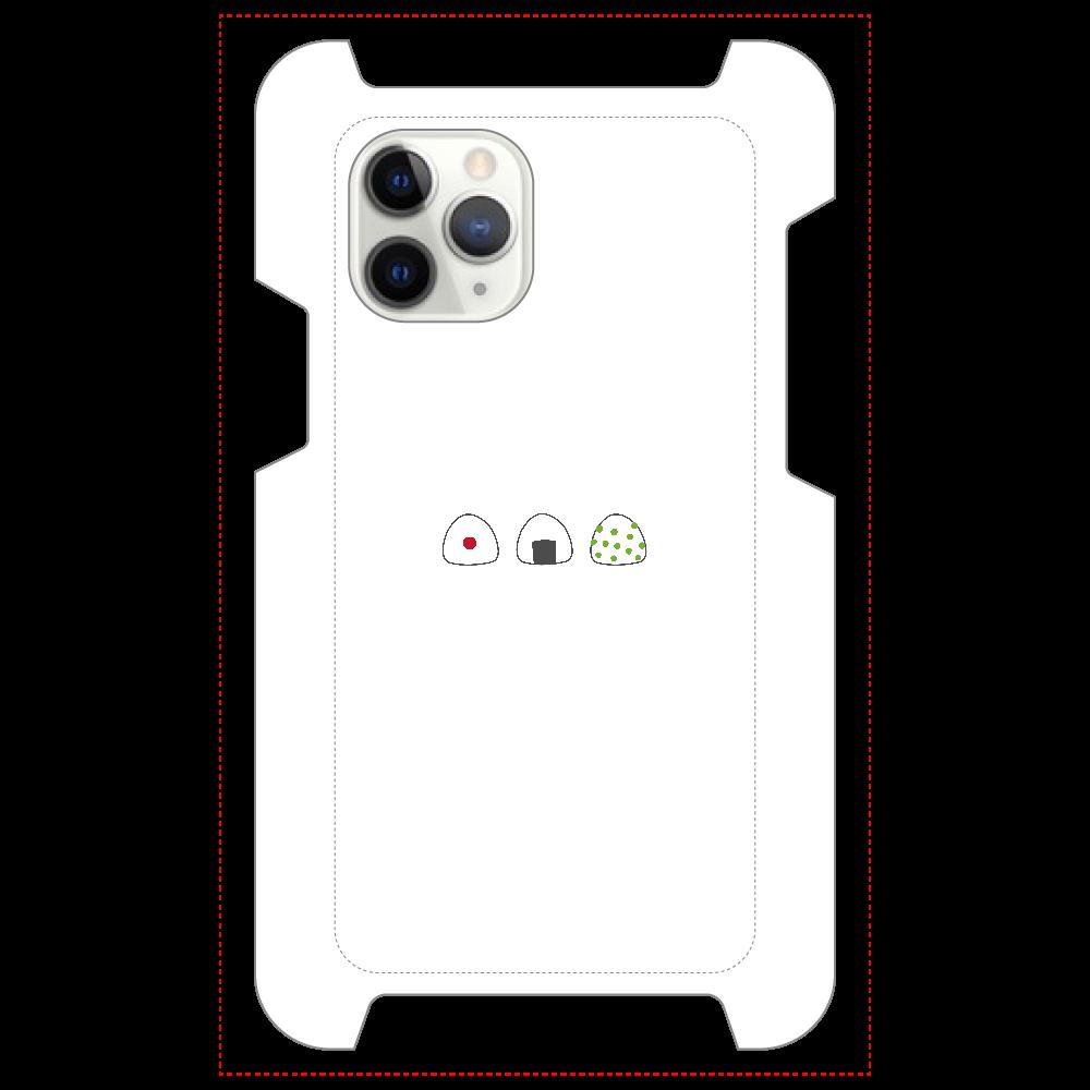 おにぎり3つ マットスマホケース iPhone 11 Pro