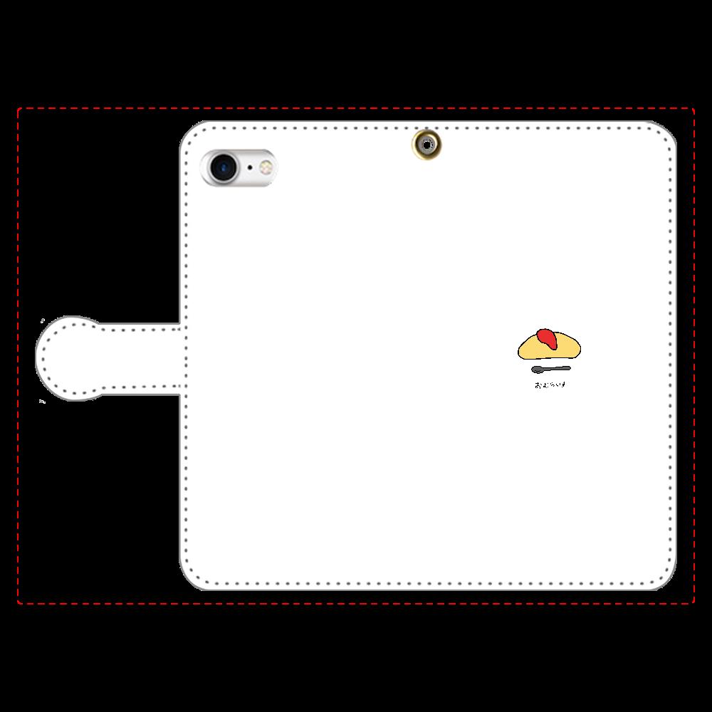 おむらいす 手帳型スマホケース iPhone8 手帳型スマホケース