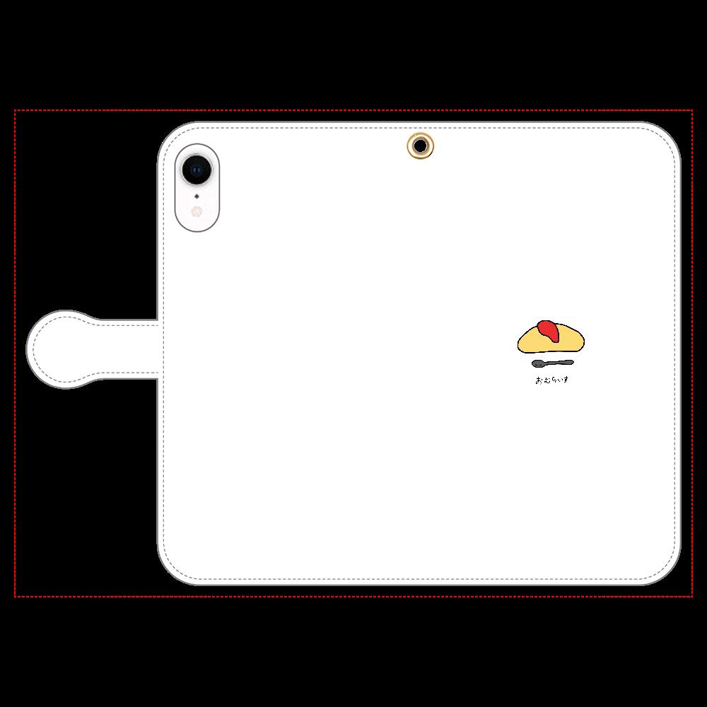 おむらいす 手帳型スマホケース iPhone XR 手帳型スマホケース