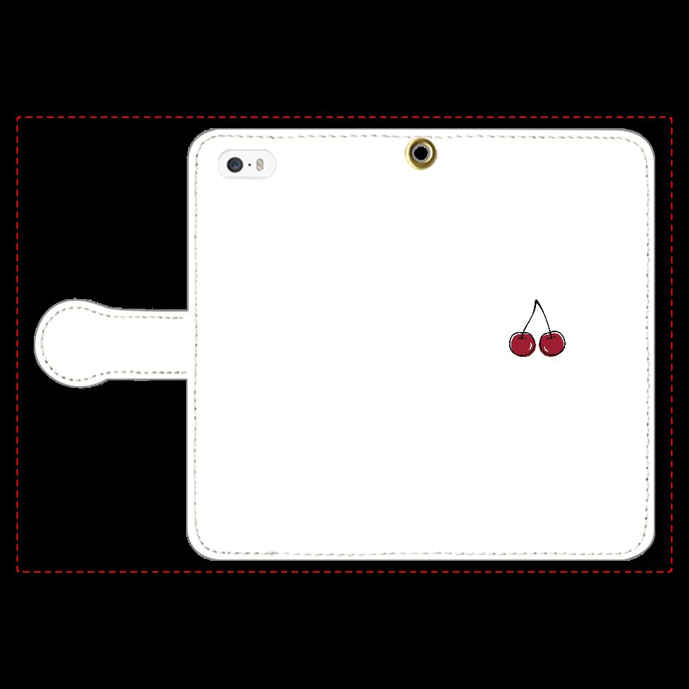ちぇりー 手帳型スマホケース iPhone5/5s 手帳型スマホケース