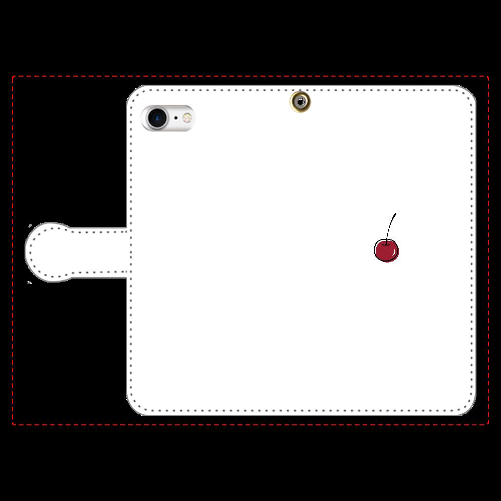 ちぇりー 手帳型スマホケース iPhone8 手帳型スマホケース