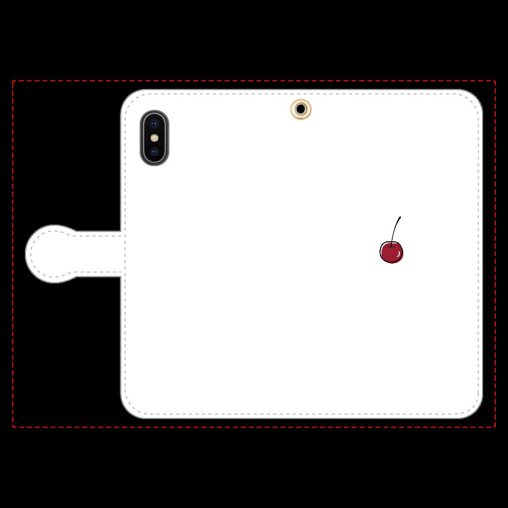 ちぇりー 手帳型スマホケース iPhoneX/Xs 手帳型スマホケース