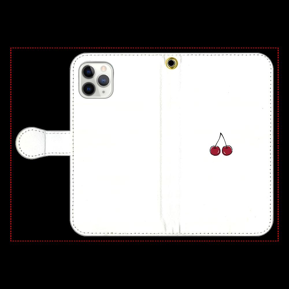 ちぇりー 手帳型スマホケース iPhone11 Pro 手帳型スマホケース