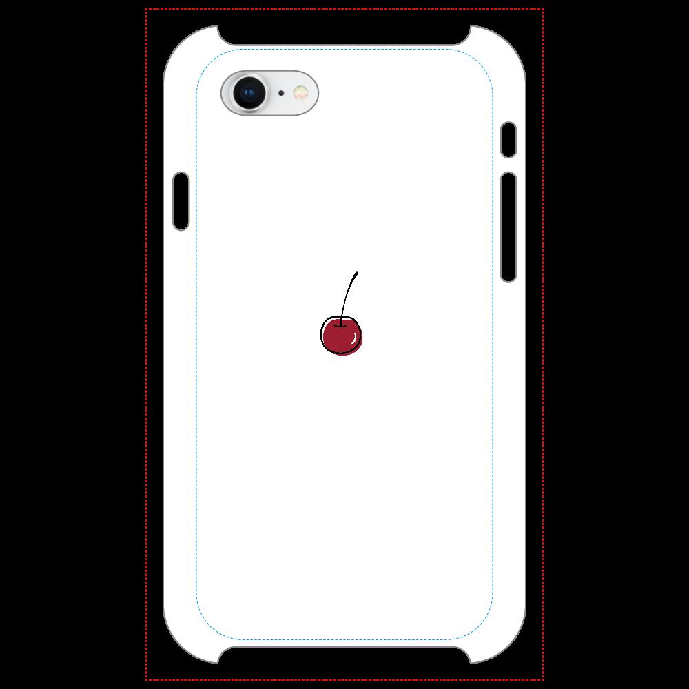 ちぇりー マットスマホケース iPhone8