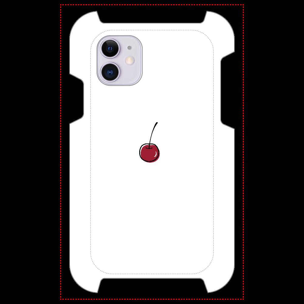 ちぇりー マットスマホケース iPhone 11