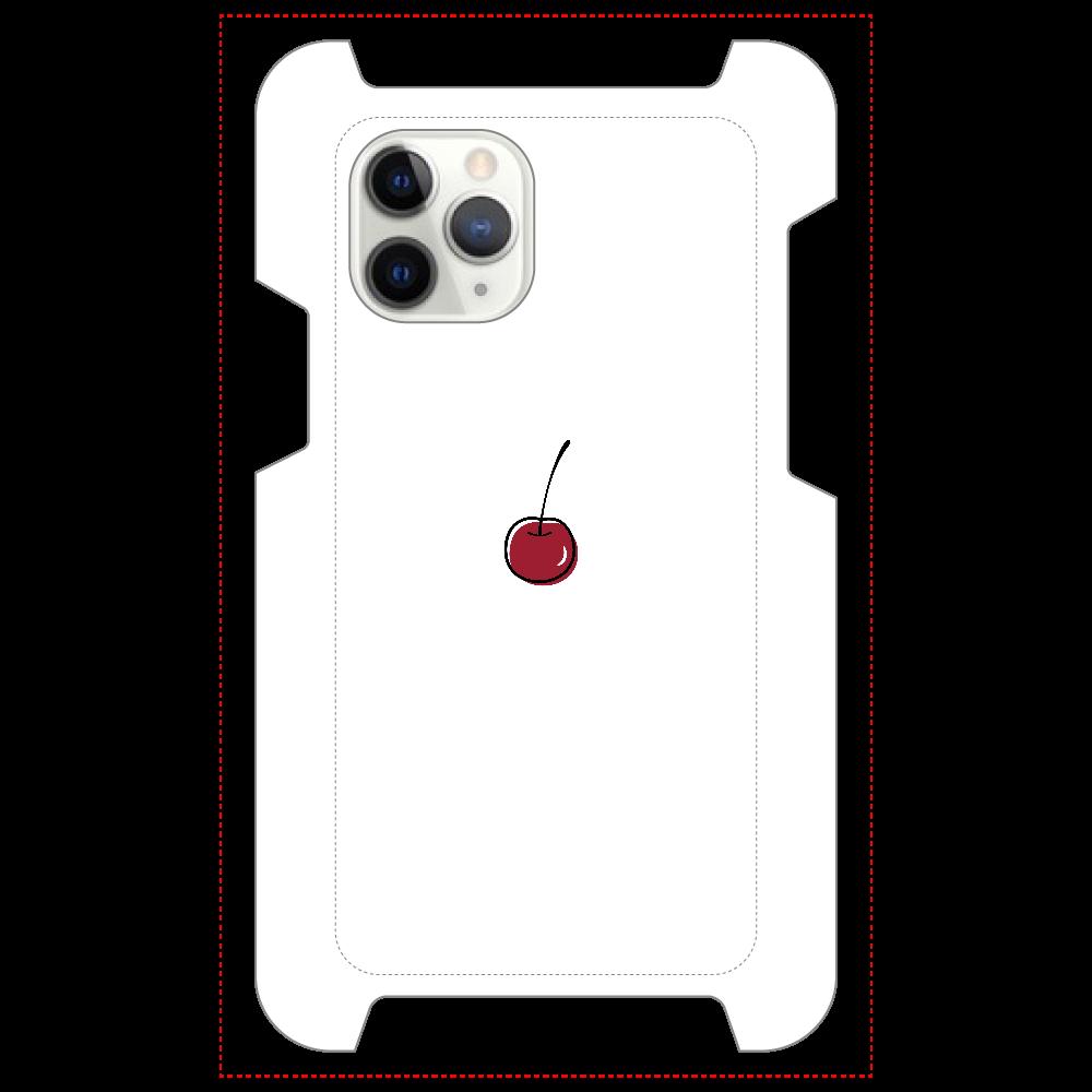 ちぇりー マットスマホケース iPhone 11 Pro