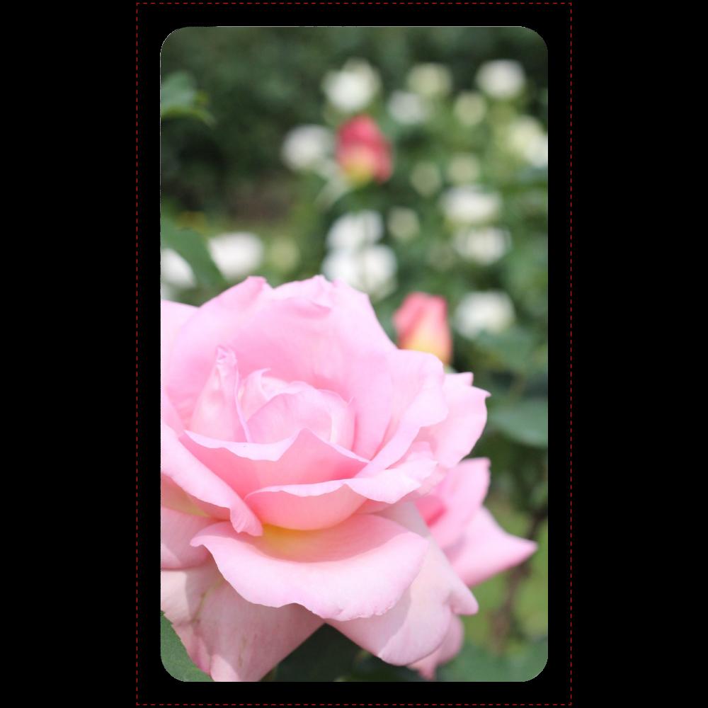 マットタイプモバイルバッテリー(4000mAh)ブラック/Pink rose マットタイプモバイルバッテリー(4000mAh)