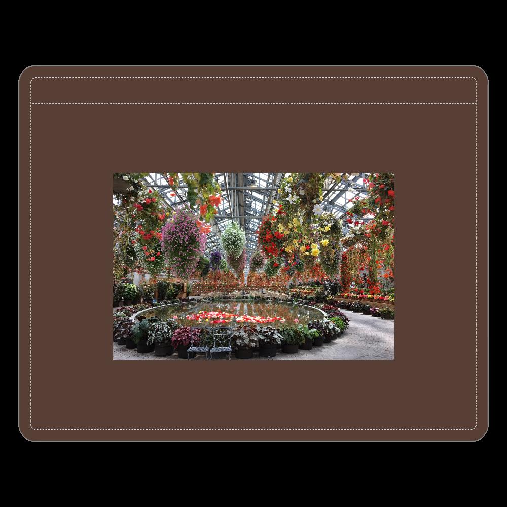 レザーIDカードホルダー(ネックストラップ付)チョコレートブラウン/Begonia garden レザーIDカードホルダー(ネックストラップ付)