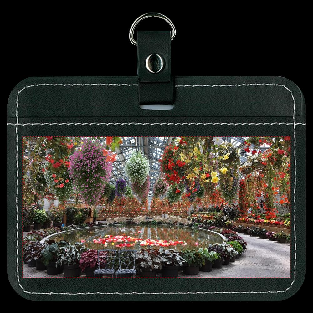 オリジナルパスケース  ブラック/Begonia garden オリジナルパスケース