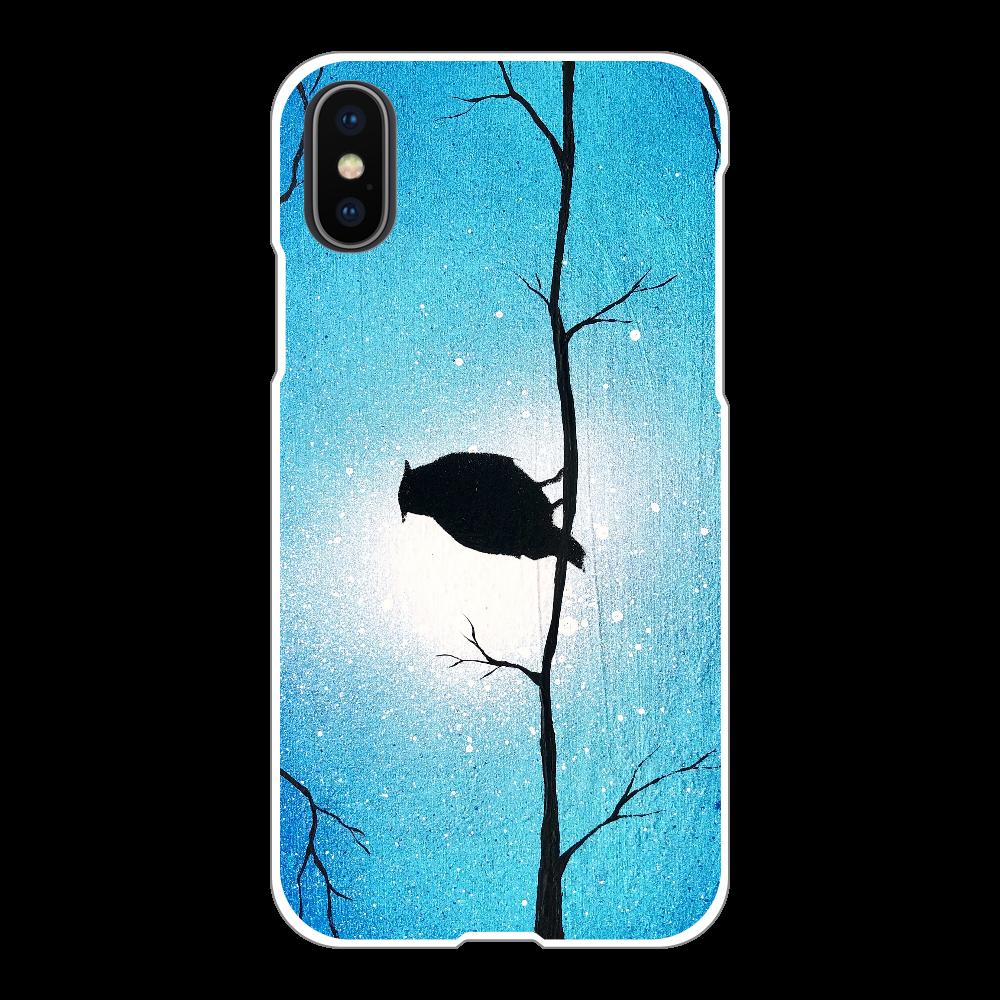 森の梟  スマホケース iPhoneX/Xs(白)