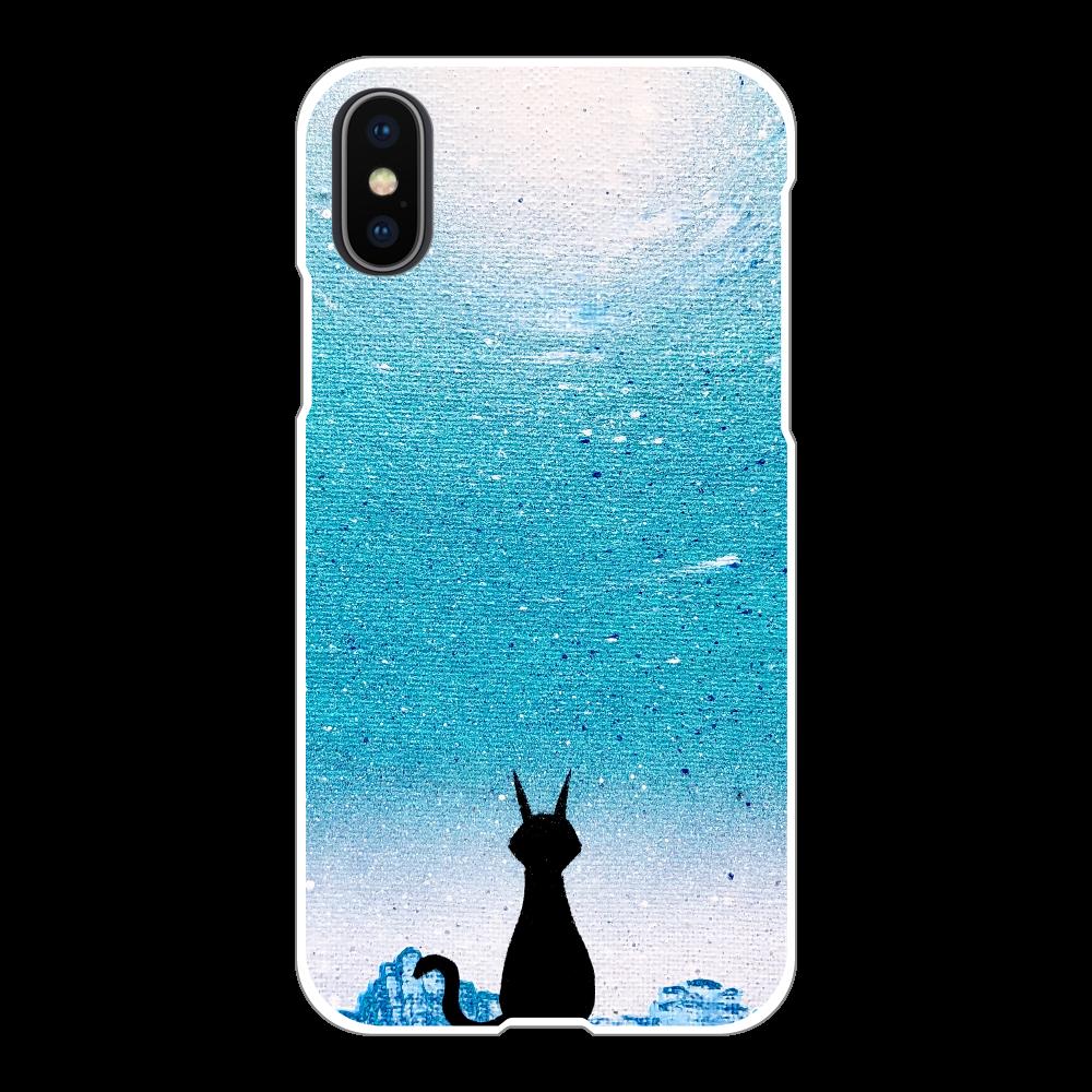 猫のいる街  スマホケース iPhoneX/Xs(白)