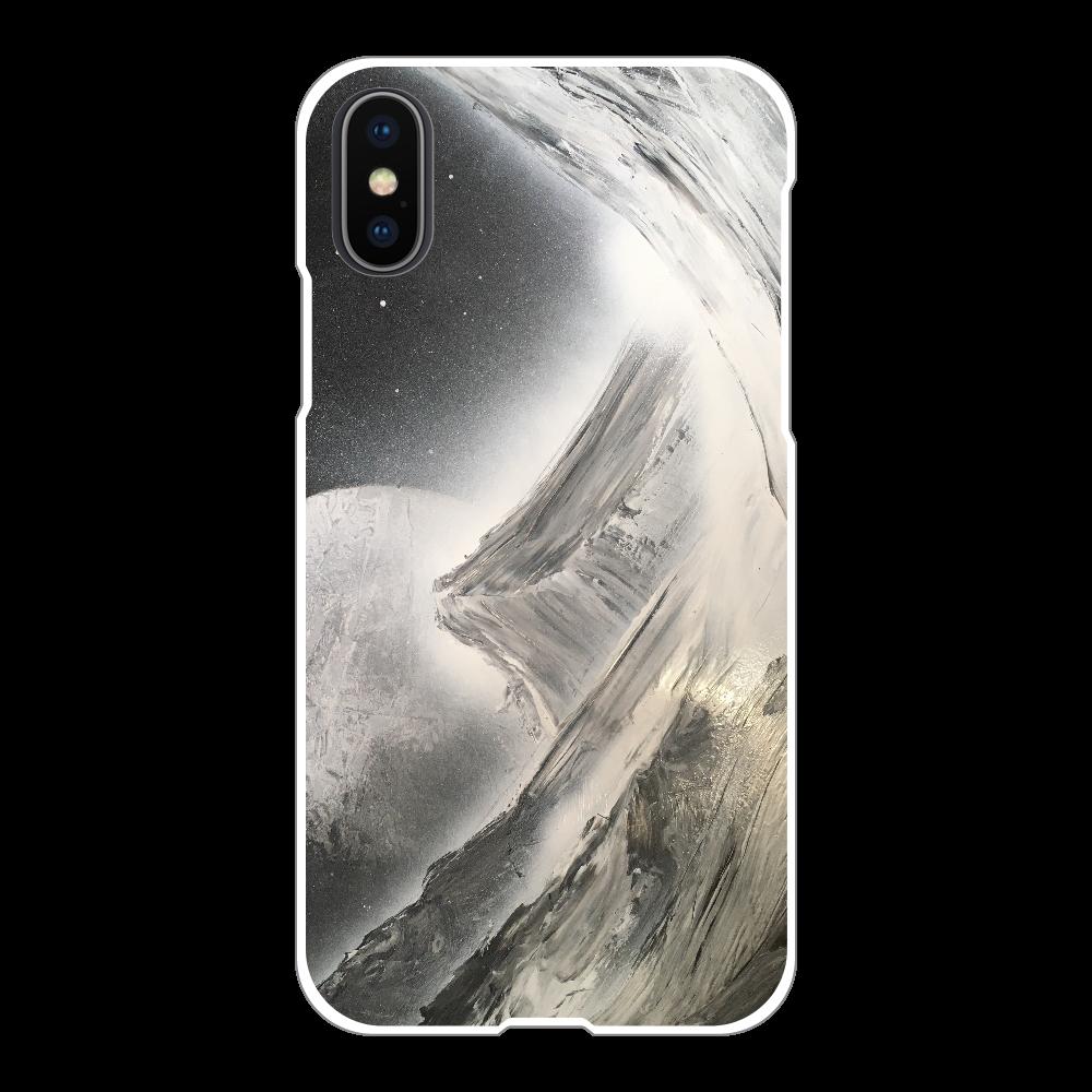 山 Noble Mountain  スマホケース iPhoneX/Xs(白)