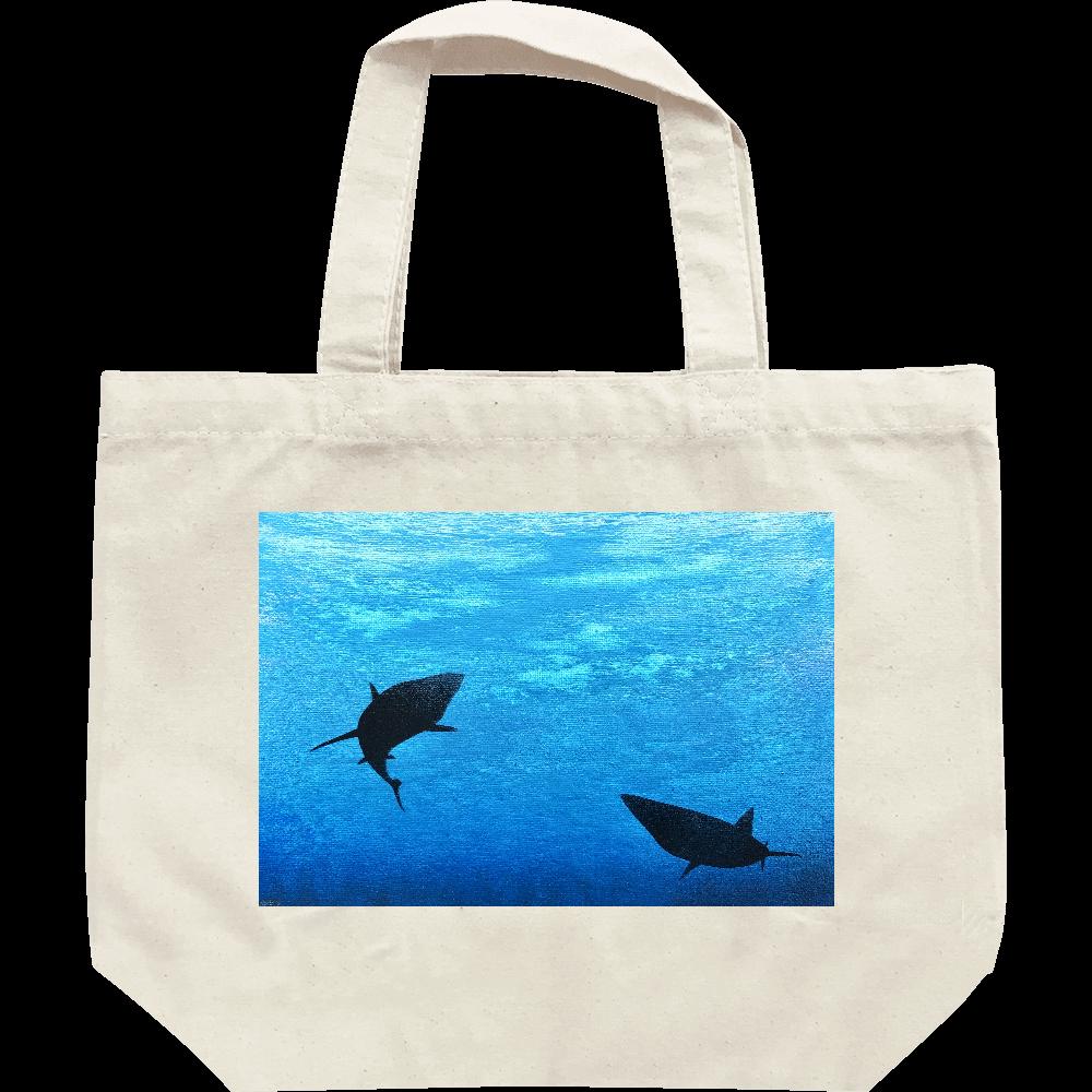 潜む鮫 トートバッグ  レギュラーキャンバストートバッグ(S)