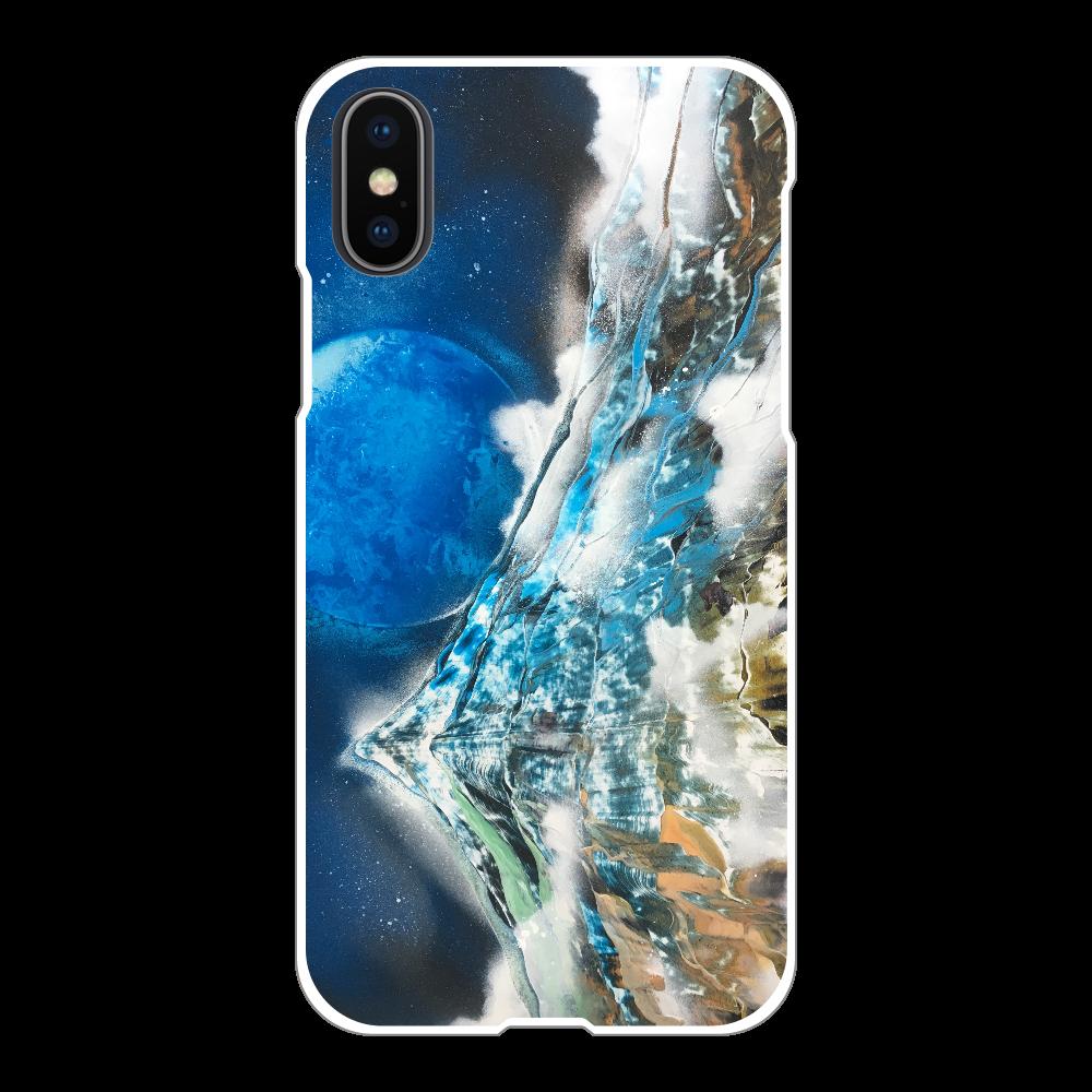 極彩色の山 Mountain of Attractive Colors  スマホケース iPhoneX/Xs(白)