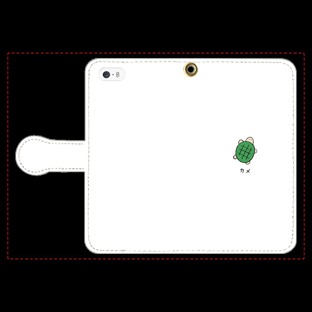 カメさん 手帳型スマホケース iPhone5/5s 手帳型スマホケース