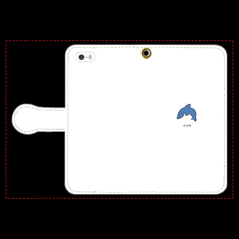 イルカさん 手帳型スマホケース iPhone5/5s 手帳型スマホケース