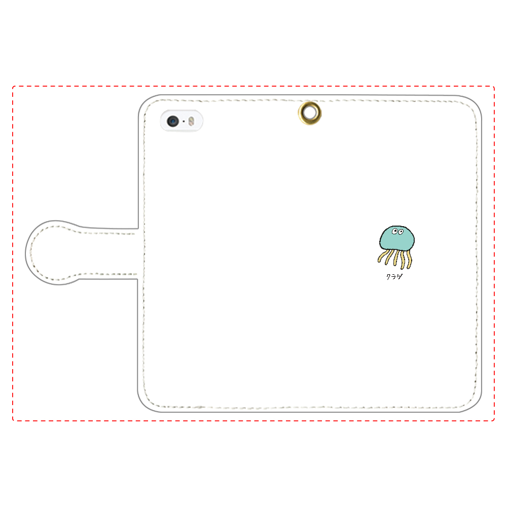クラゲさん 手帳型スマホケース iPhone5/5s 手帳型スマホケース