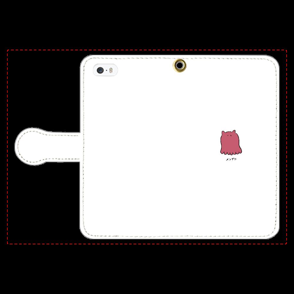 メンダコさん 手帳型スマホケース iPhone5/5s 手帳型スマホケース