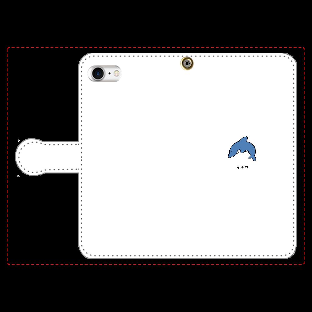 イルカさん 手帳型スマホケース iPhone8 手帳型スマホケース