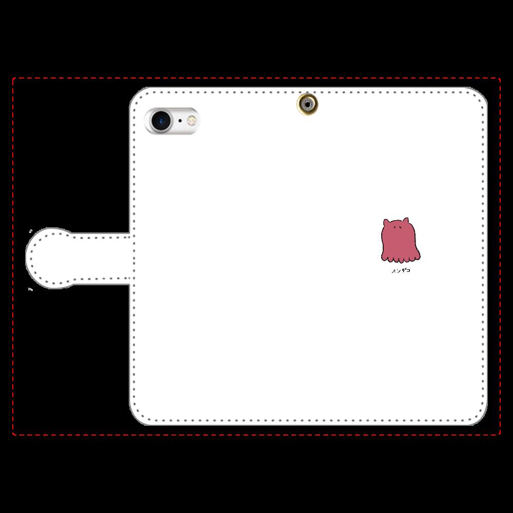 メンダコさん 手帳型スマホケース iPhone8 手帳型スマホケース