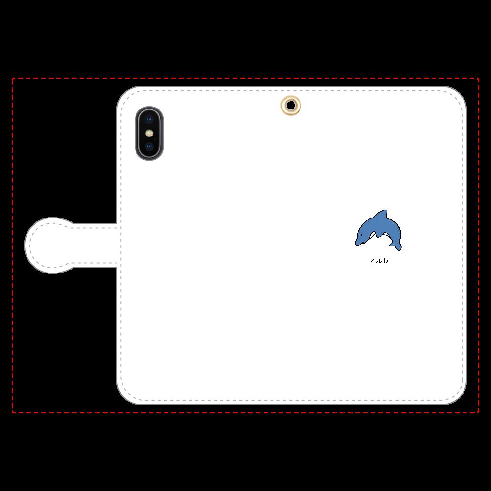 イルカさん 手帳型スマホケース iPhoneX/Xs 手帳型スマホケース