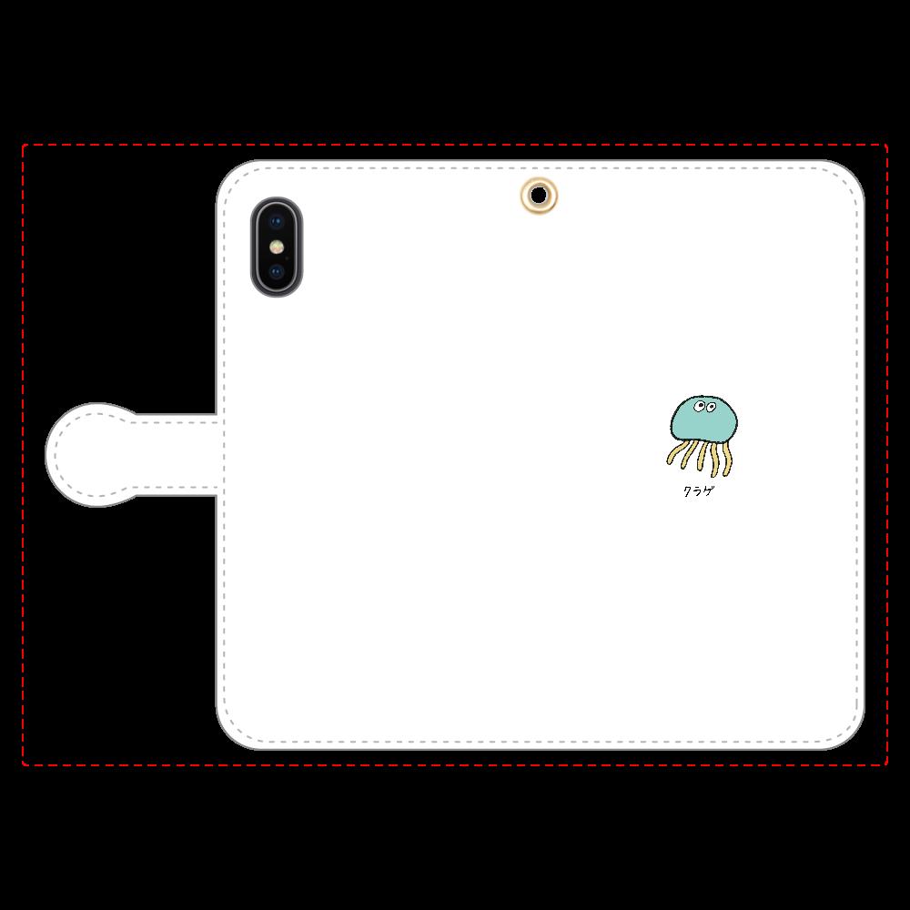 クラゲさん 手帳型スマホケース iPhoneX/Xs 手帳型スマホケース