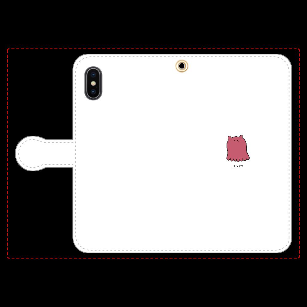 メンダコさん 手帳型スマホケース iPhoneX/Xs 手帳型スマホケース